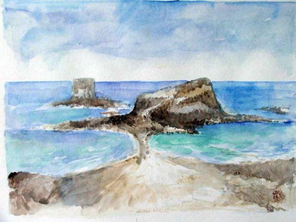 Sipos Loránd - Szigetek, akvarell - artGaléria