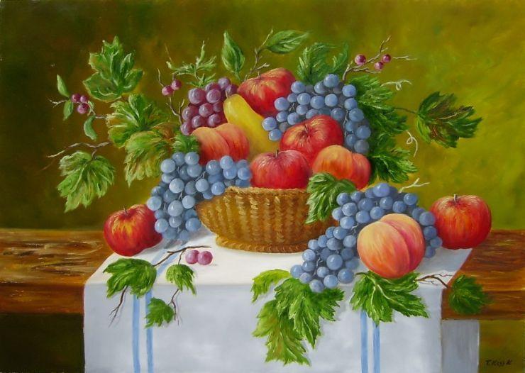 Kiss Karola: Gyümölcskosár - artGaléria